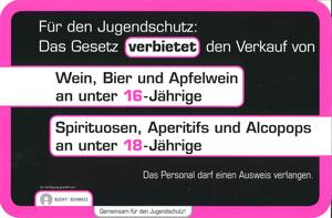 Hinweisschild Alkohol