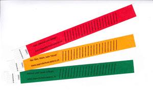Kontrollbändeli Farbsatz 2 gestreift